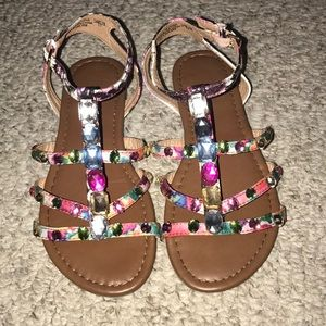 Cute jeweled summer sandals